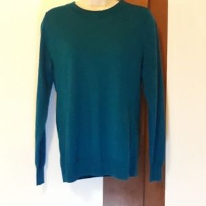 J. Crew Blue Merino Wool Sweater